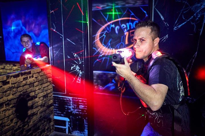 Laserforce laser tag in Art Attack arena