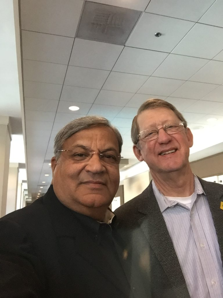 Satinder with Jerry Johnston